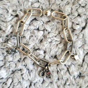 NWOT Pandora Me link chain bracelet with charms.